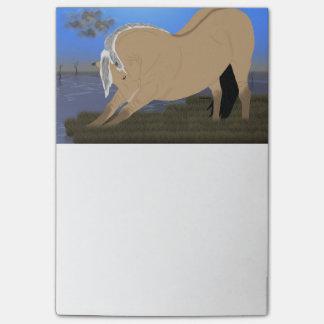 Esticão norueguês do cavalo do fiorde post-it note