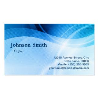 Estilista - criativo azul moderno cartão de visita