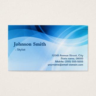 Estilista - criativo azul moderno cartão de visitas