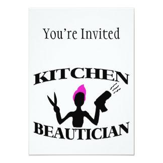 Estilista do Beautician da cozinha em casa Convite 12.7 X 17.78cm