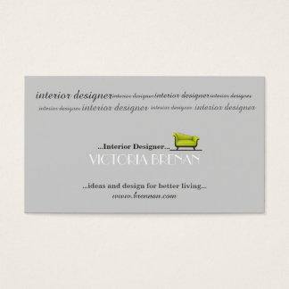 Estilista do decorador de casa do sofá do designer cartão de visitas