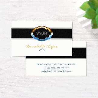 Estilista profissional elegante elegante cartão de visitas