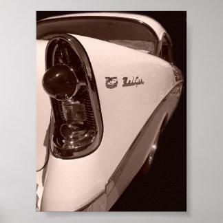 estilo 56 antigo chevy pôster