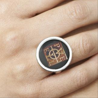 Estilo A do anel de John Dee Enochian PELE