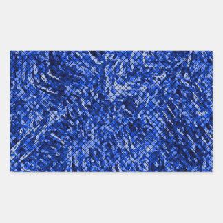 Estilo azul do vitral do diamante adesivo em forma retangular