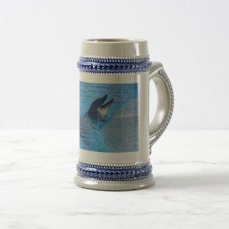 Estilo-Cinzas/azul do golfinho caneca de cerveja