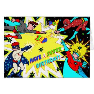 Estilo colorido da banda desenhada do cartão de an
