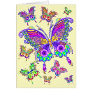 Estilo colorido do tatuagem da borboleta cartão