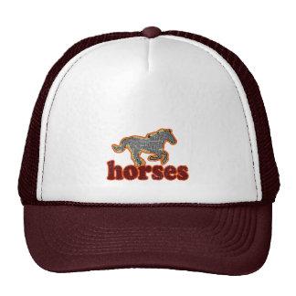 estilo country da fazenda animal dos cavalos boné