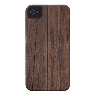 Estilo country de madeira de madeira escuro capas para iPhone 4 Case-Mate