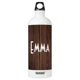 Estilo country de madeira de madeira escuro garrafa d'água