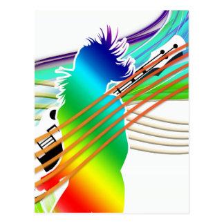 Estilo da dança da música cartao postal