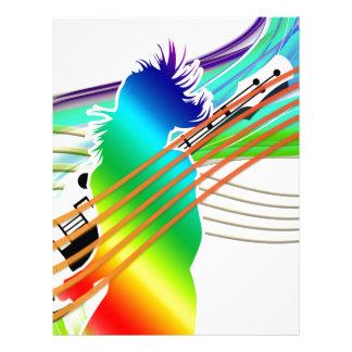 Estilo da dança da música modelo de papel de carta