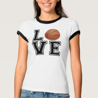 Estilo da faculdade do basquetebol do amor tshirts