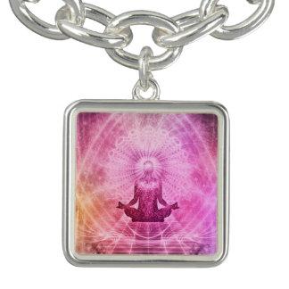 Estilo da ioga da meditação braceletes com pingente
