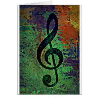 Estilo da música do Clef Cartão De Nota