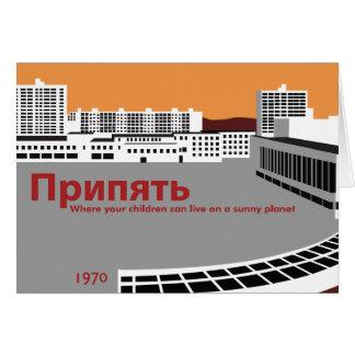 Estilo da propaganda de Prypyat Cartão Comemorativo