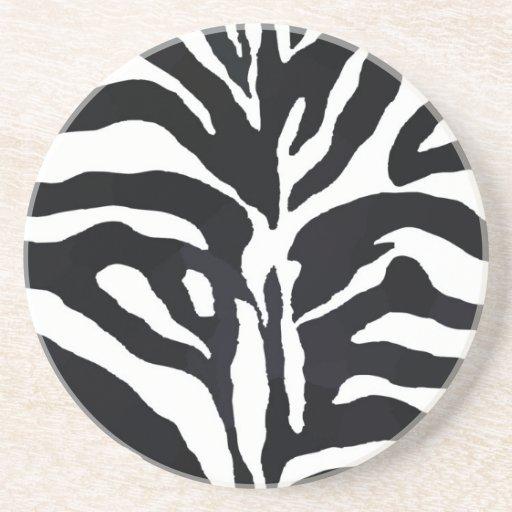 Estilo da zebra porta-copo
