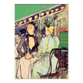 Estilo de Café Du Monde Vintage Convite 12.7 X 17.78cm