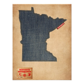 Estilo de jeans da sarja de Nimes do mapa de Convites Personalizados