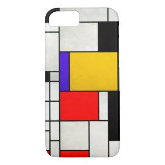 Estilo de Mondrian da arte abstracta Capa iPhone 7