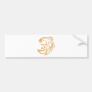 Estilo de salto do logotipo do ícone da abanada adesivo para carro