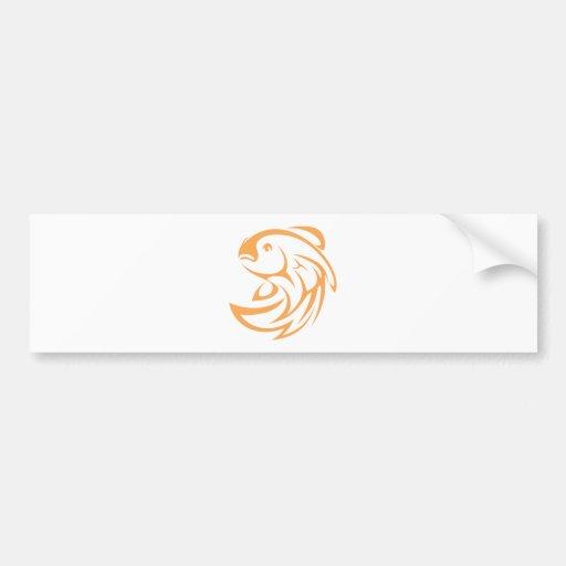 Estilo de salto do logotipo do ícone da abanada do adesivo