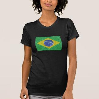 Estilo de Van Gogh da bandeira de Brasil Camiseta