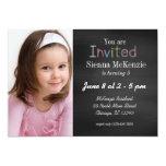 Estilo do aniversário do quadro convite personalizados