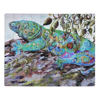 Estilo do art deco do lagarto de Nova Caledônia