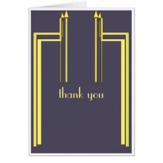 estilo do art deco dos cartões de agradecimentos