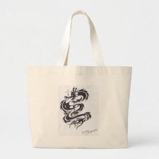 estilo do dragão bolsa para compras