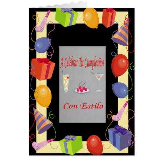 Estilo do engodo de Cumpleaños Cartão Comemorativo