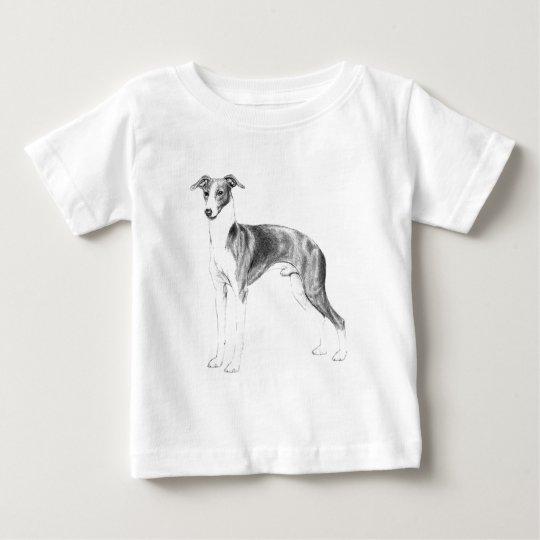 Estilo do galgo italiano camiseta para bebê