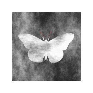 Estilo do Grunge da borboleta Impressão Em Tela