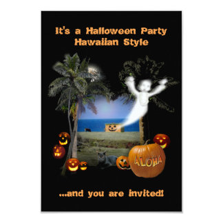 Estilo do Hawaiian do partido do Dia das Bruxas Convite 8.89 X 12.7cm