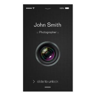 estilo do iOS do iPhone - fotografia da objectiva Cartões De Visita
