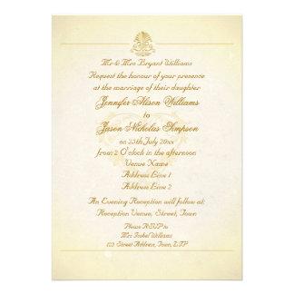 Estilo do papel de pergaminho do vintage do convit convites