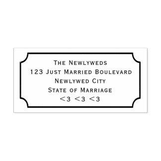 Estilo do quadro do quadro do endereço do carimbo auto entintado
