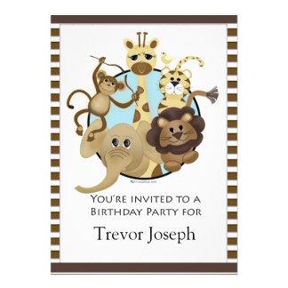 Estilo do safari de Invitiation da festa de aniver Convites Personalizado