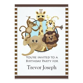 Estilo do safari de Invitiation da festa de Convites Personalizado