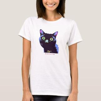Estilo do t-shirt do clube do gato preto camiseta