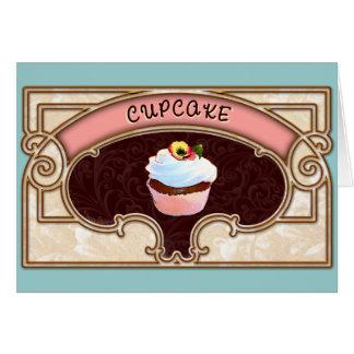 Estilo do Victorian da bandeira do cupcake Cartão Comemorativo