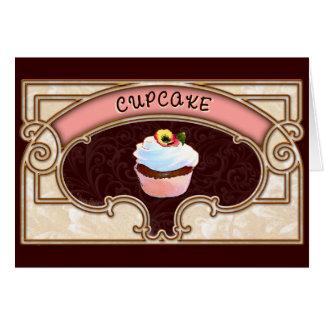 Estilo do Victorian da bandeira do cupcake Cartoes