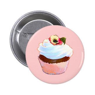 Estilo do vintage do cupcake e da cadeira boton