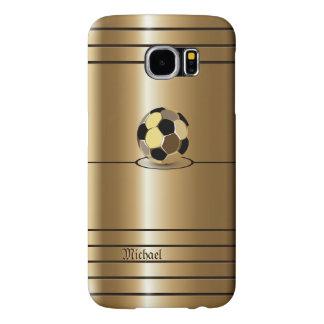 Estilo dourado do futebol do futebol capas samsung galaxy s6