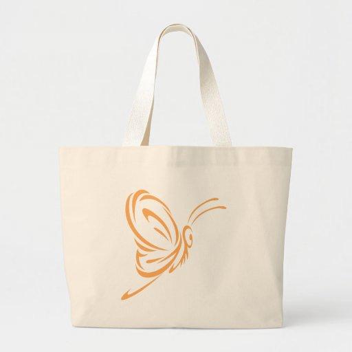 Estilo elegante do tatuagem da borboleta bolsa para compras