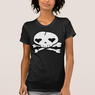 Estilo estranho de Kawaii do gótico do crânio T-shirt