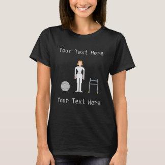 Estilo feito sob encomenda da fêmea 8Bits da Camiseta