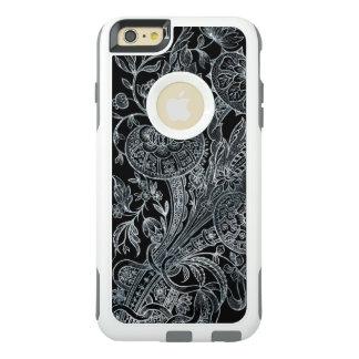 estilo floral de prata do embutimento